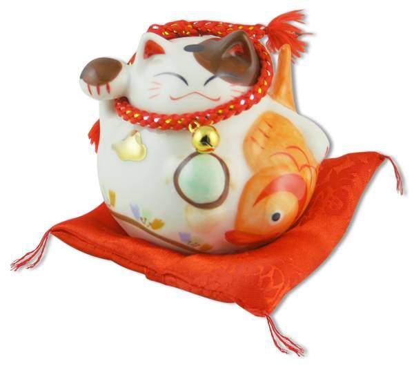 """Японский кот-копилка Манеки-неко """"Долголетие, успех и богатство!"""", белый Pak Lee YC-10333-A"""